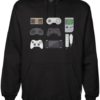 video game collection black hoodie