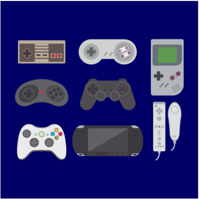 video game collection navy