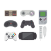 video game collection white