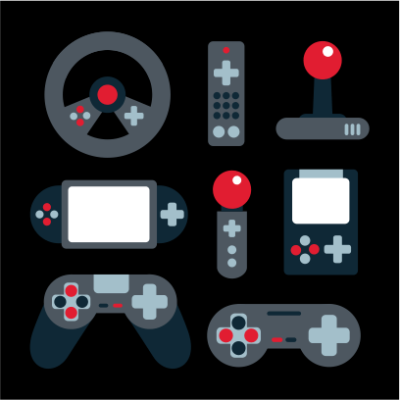 video game elements black