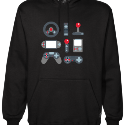 video game elements black hoodie
