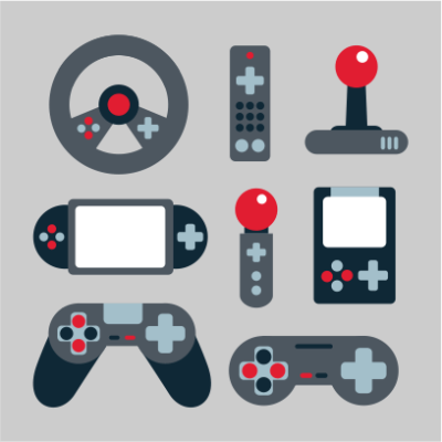 video game elements grey