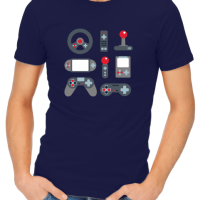 video game elements mens navy shirt