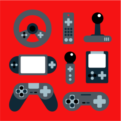 video game elements red