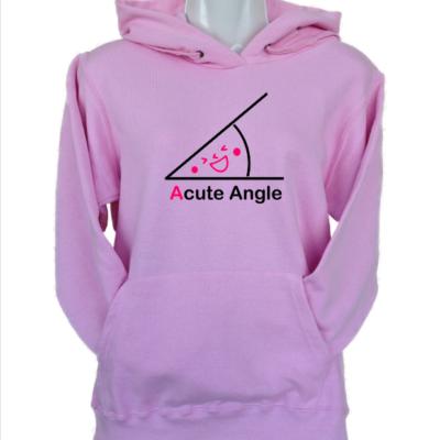 acute angle light pink hoodie