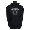 awesome mom black hoodie