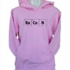 bacon light pink hoodie