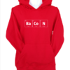 bacon red hoodie