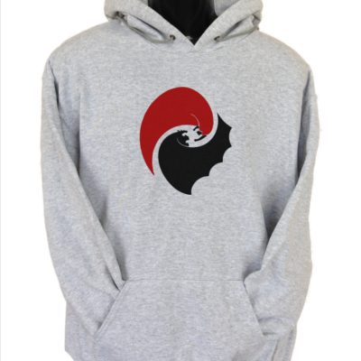 batman vs superman circle grey hoodie