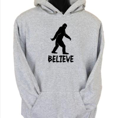 believe hoodie grey