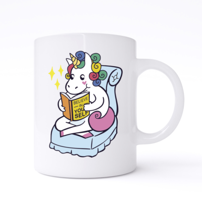 believe in yourself unicorn mug