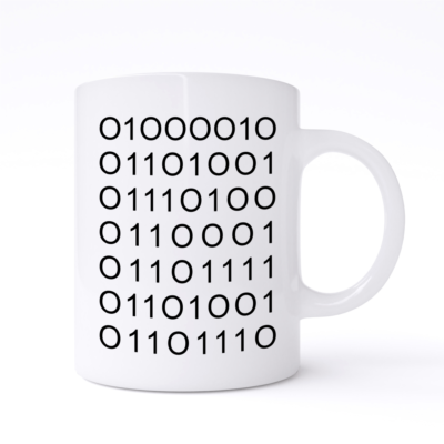 bitchin binary mug