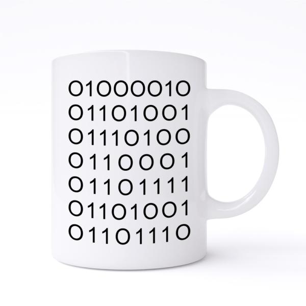 bitchin binary mug