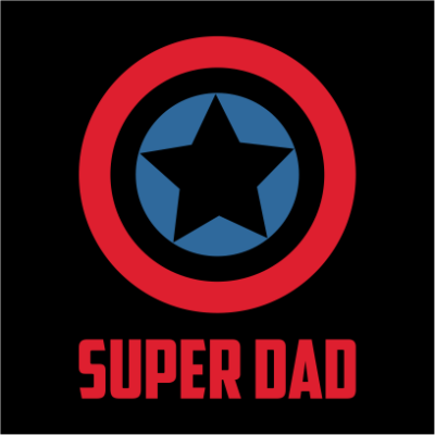 captain america super dad black