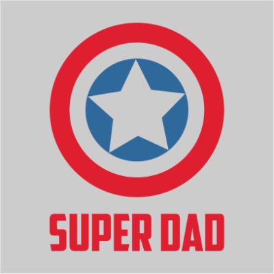 captain america super dad grey