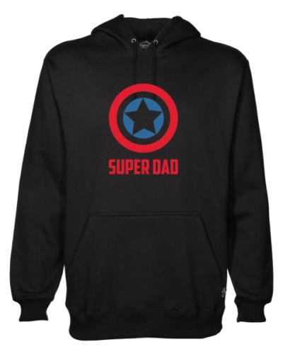 captain america super dad mens black hoodie