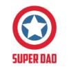 captain america super dad white