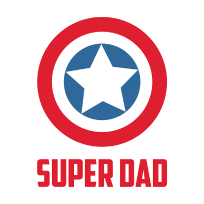 captain america super dad white