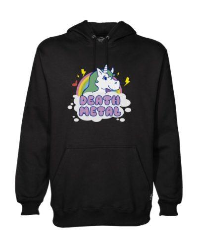 death metal unicorn hoodie