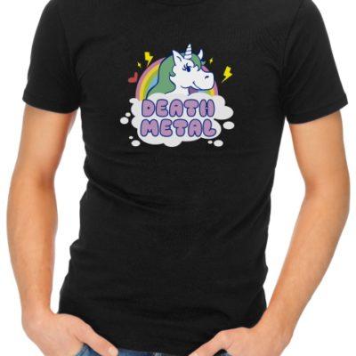 death metal unicorn mens tshirt