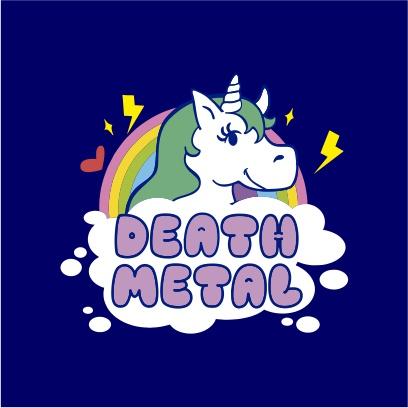 death metal unicorn navy