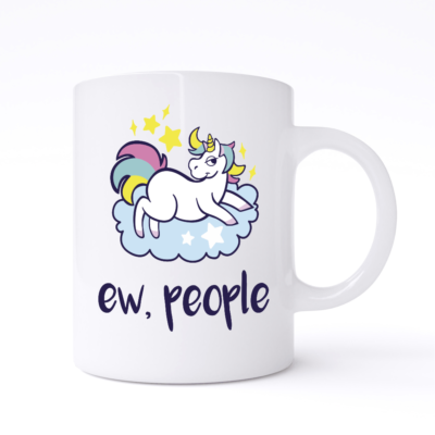 Ew People Unicorn Mug
