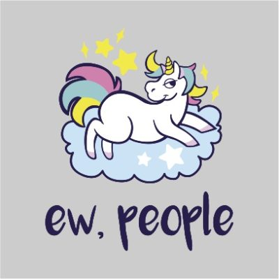 ew people unicorn light grey