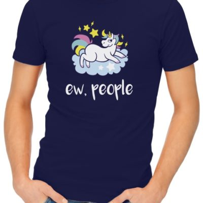 ew people unicorn mens tshirt