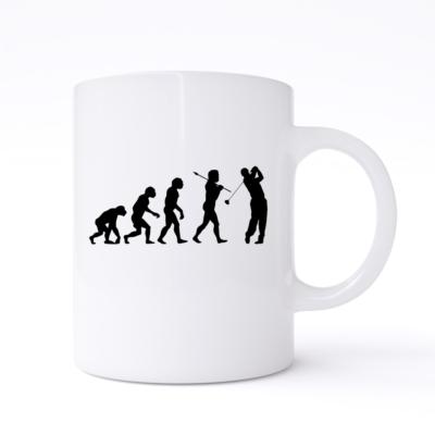 golf evolution  mug
