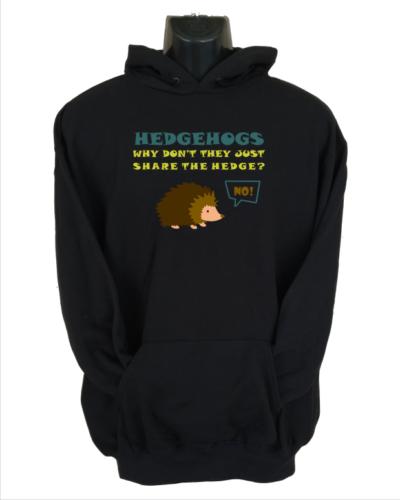 hedgehogs black hoodie