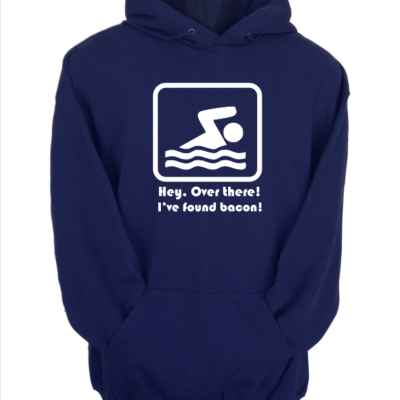 hey over there i found bacon navy hoodie
