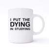 i put the dying in studying mug