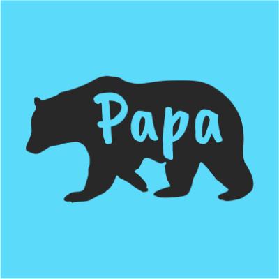 papa bear bottle kelly sky blue