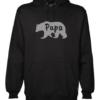 papa bear mens black hoodie