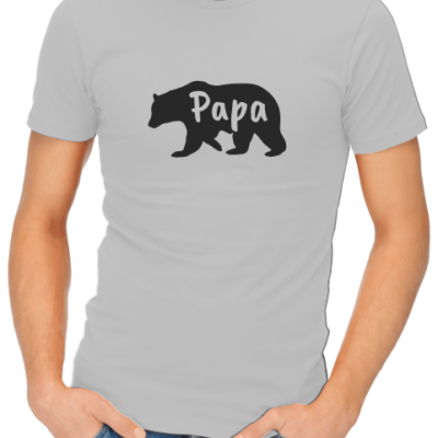 papa bear mens grey shirt (1)