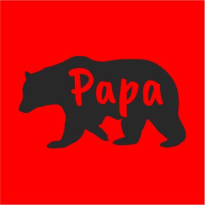 papa bear red