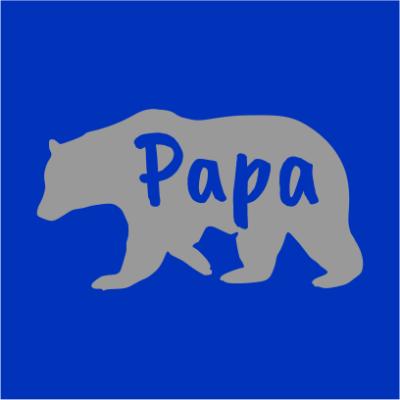 papa bear royal blue