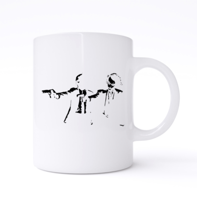 pulp fiction batman joker mug