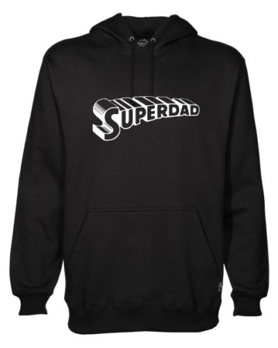 superdad mens black hoodie