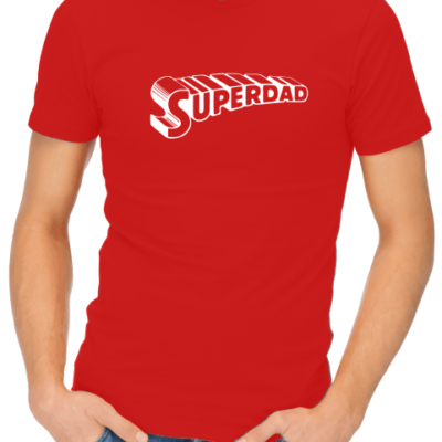 superdad mens red shirt