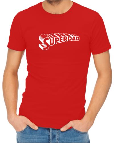 superdad mens red shirt