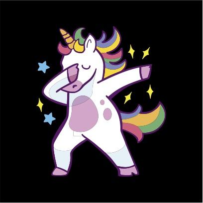 Unicorn Dab Hoodie Juicebubble T Shirts