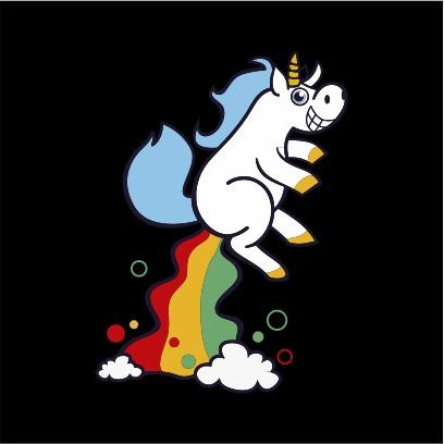 unicorn fart black