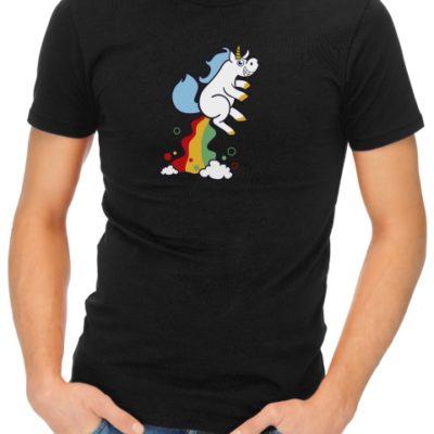 unicorn fart mens tshirt