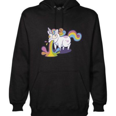unicorn puke hoodie