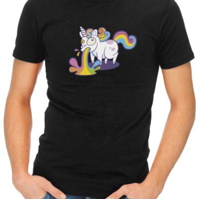unicorn puke mens tshirt