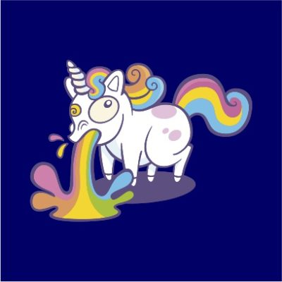 unicorn puke navy