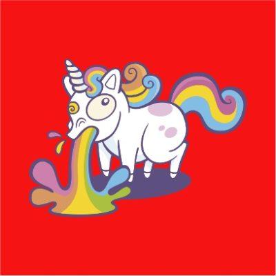 unicorn puke red