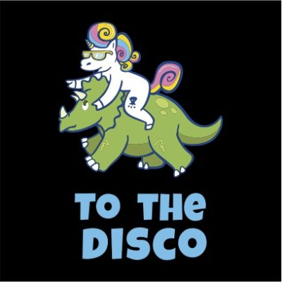 unicorn to the disco black