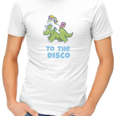 unicorn to the disco mens tshirt